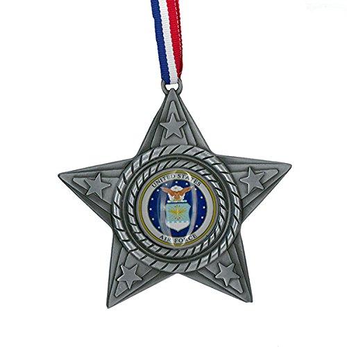 Kurt Adler 4″ Metal U S Air Force Star Ornament