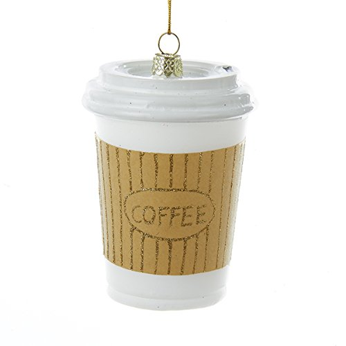 Kurt Adler 4″ Noble Gems Glass Coffee Cup Ornament
