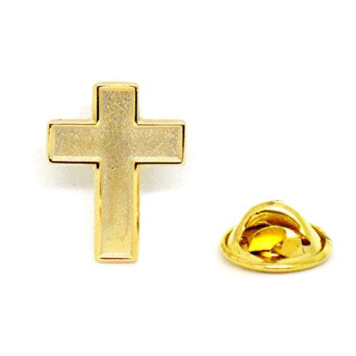 Chaplain Gold Finish Cross – Religious Christian Latin Ornate Official Lapel Pin