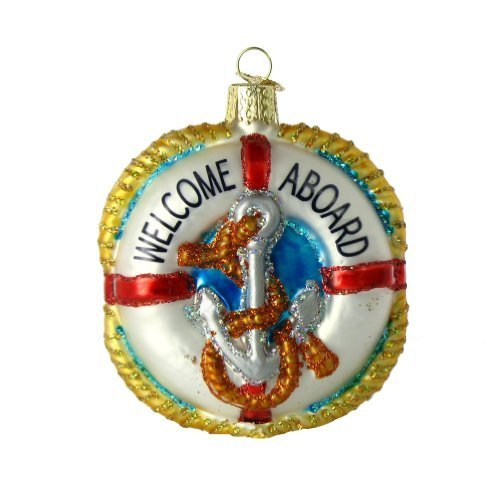 Old World Christmas Life Preserver Ornament by Old World Christmas