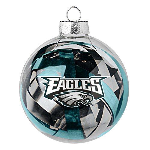 NFL Philadelphia Eagles Large Tinsel Ball Ornament