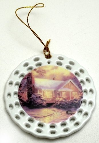 Thomas Kinkade Christmas Cottage Ornament by International Wholesale Gifts & Collectibles