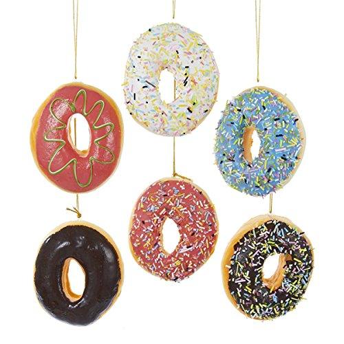 Donut Plastic Ornament Set of 6