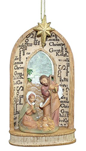 5″ Holy Family Ornament Names Of Jesus Fontanini by Roman