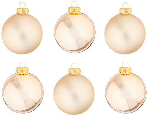 Kurt Adler GG0640 Kurt Ader Rose Gold Glass Ball Ornaments