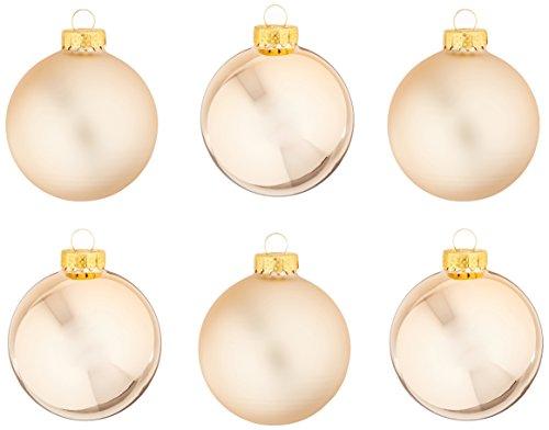 Kurt Adler GG0640 Kurt Ader Rose Gold Glass Ball Ornaments