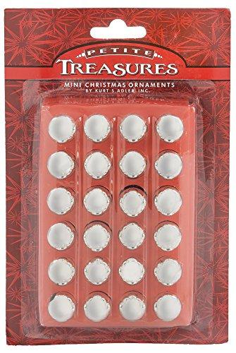 etite Treasures Shiny Mini Glass Ball Ornaments .6″ (15mm) Silver
