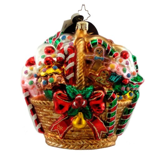 Christopher Radko SUGAR COATED CARGO Glass Ornament Gingerbread Pastry Sweet