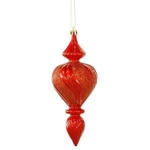 Vickerman 7″ Red Candy Finish Finial Christmas Ornament, 3 per Box