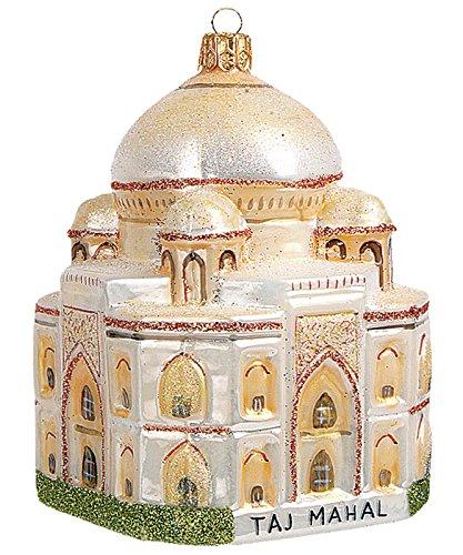 Taj Mahal India Polish Mouth Blown Glass Christmas Ornament Decoration