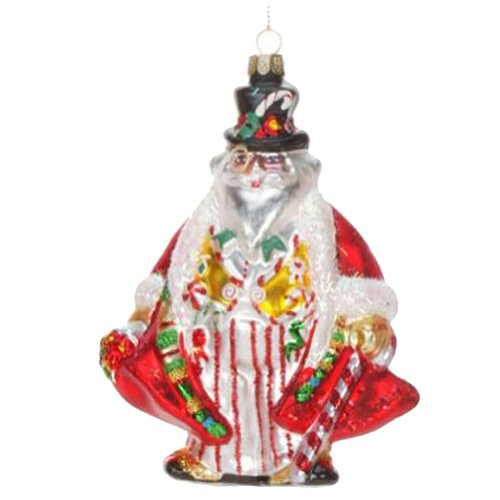 Mary Engelbreit Ornament Glass Santa Father Time 36-34262-B