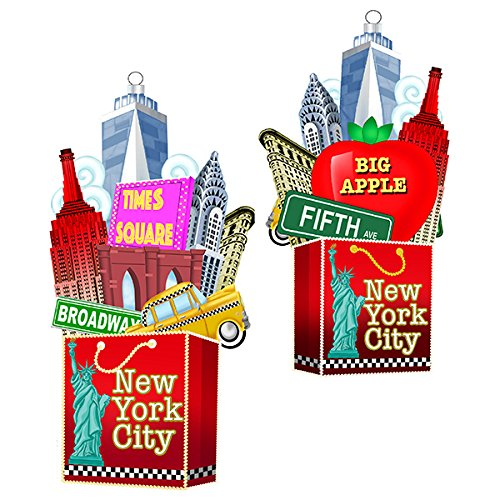 Kurt Adler C7564 4.75″ New York City Glass Bag Ornament