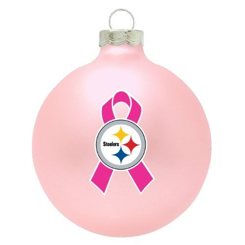 Pittsburgh Steelers Pink Breast Cancer Awareness Ball Ornament