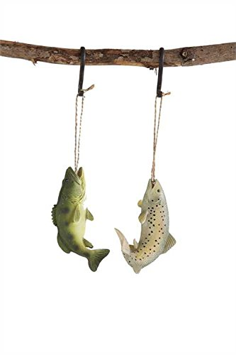 Freshwater Fish Resin Christmas Ornament Set of 2
