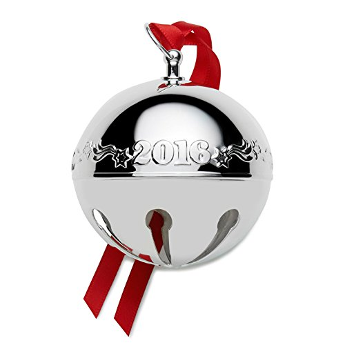Wallace 2016 Silver Plated Sleigh Bell Ornament, 46th Edition