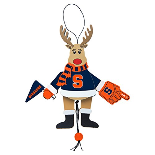 NCAA Syracuse Orange Wooden Cheer Ornament