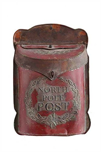 "Creative Co-Op XC7194 15.5″H Tin ""North Pole Post"" Box"