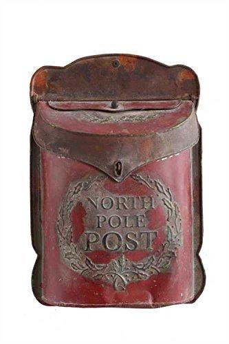 "Creative Co-Op XC7194 15.5″H Tin ""North Pole Post"" Box"