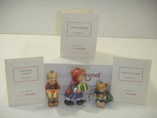 Studio Hummel Set 23 # 96062 Christmas Ornament Collection … Gifts For Grandpa , Teddy Bear Surprise , Gifts For Grandma