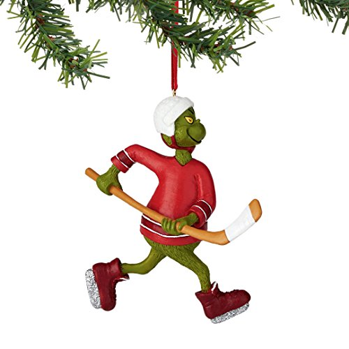 Department 56 Grinch Sports Hockey Ornament, 4.25″