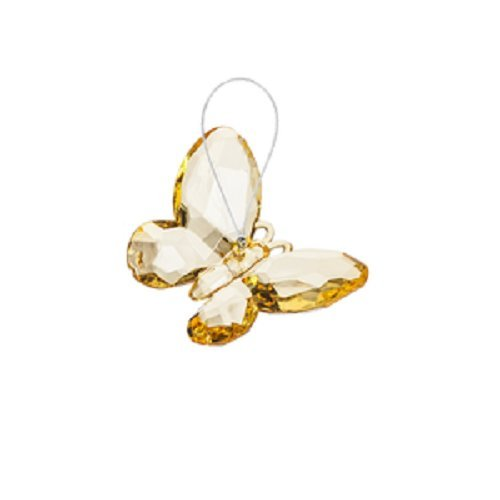 Crystal Expressions Small Butterfly Ornament by Ganz (Yellow)