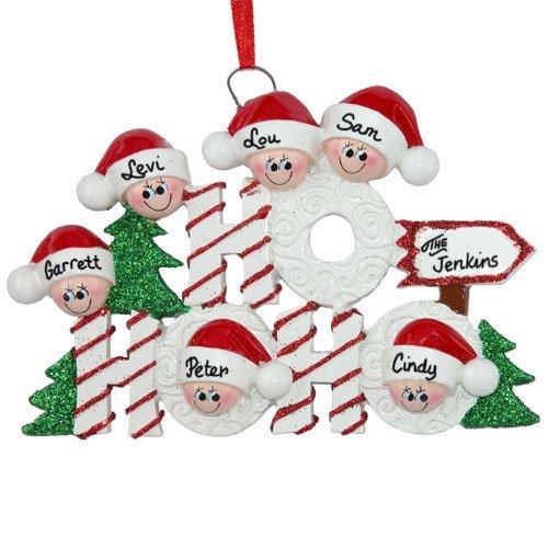 Ho Ho Elves Family of 6 Ornament