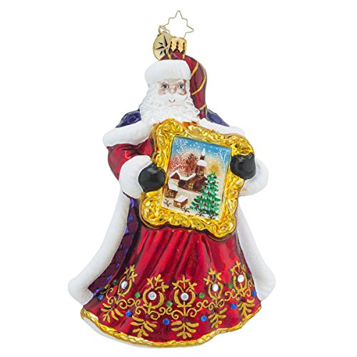 Christopher Radko Perfect Portrait Santa Claus Christmas Ornament