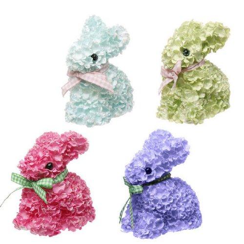 RAZ Imports – 3.5″ Hydrangea Easter Bunnies – Set of 4