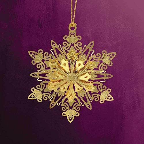 ChemArt 2.5″ Collectible Keepsakes Sparkling Snowflake Christmas Ornament