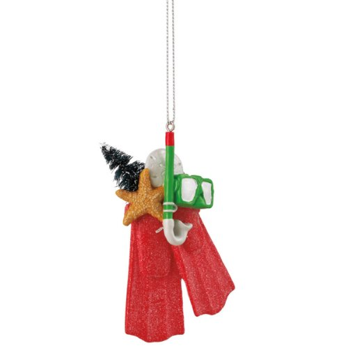 Snorkeling Christmas Ornament