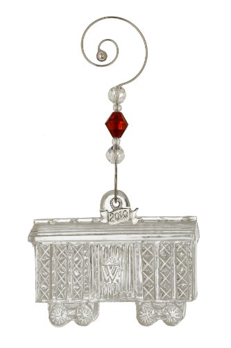 Waterford ® Crystal 2010 Train Box Car, 3rd in Series, Christmas Ornament