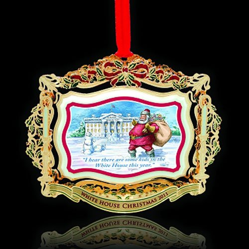 Chemart/Beacon Design 2011 White House Theodore Roosevelt brass ornament