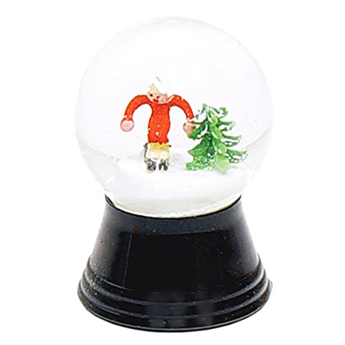 Alexander Taron Importer PR1224 Perzy Decorative Snowglobe with Small Skier, 2.75″ x 1.5″ x 1.5″