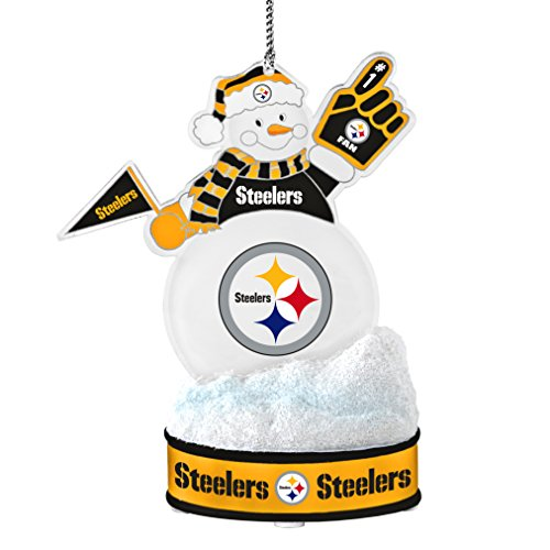 NFL Pittsburgh Steelers LED Snowman Ornament
