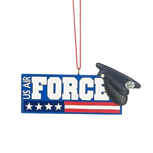 Midwest CBK 3″ x 1″ US Air Force Service Uniform Cap Resin Ornament