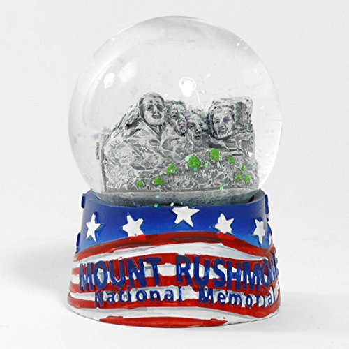 South Dakota RED WHITE AND BLUE MOUNT RUSHMORE WATERBALL SNOWGLOBE
