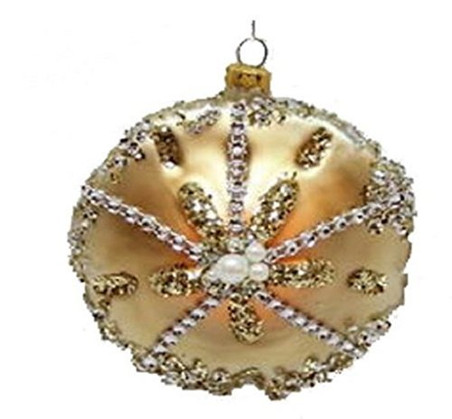 December Diamonds Blown Glass Ornament – Sand Dollar