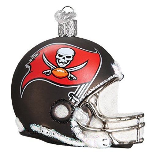 Old World Christmas Tampa Bay Buccaneers Helmet Glass Blown Ornament