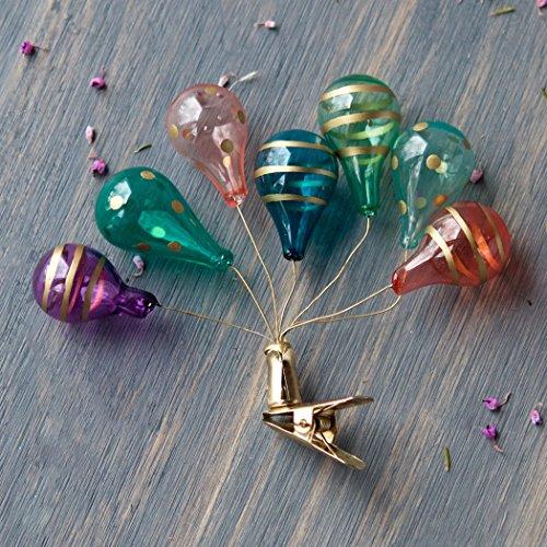 Colorful Glass Balloon Clip Ornament
