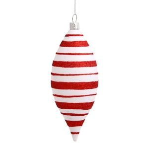Vickerman 3 Count Peppermint Twist Shatterproof Candy Cane Stripe Christmas Ornaments, 5″