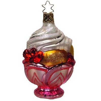 Sweet Sundae Sweet Sundae Pink Dish Ice Cream Retired Ornament Inge-Glas