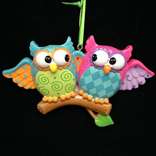 Owl Couple Personalized Tree Ornament by Polar X