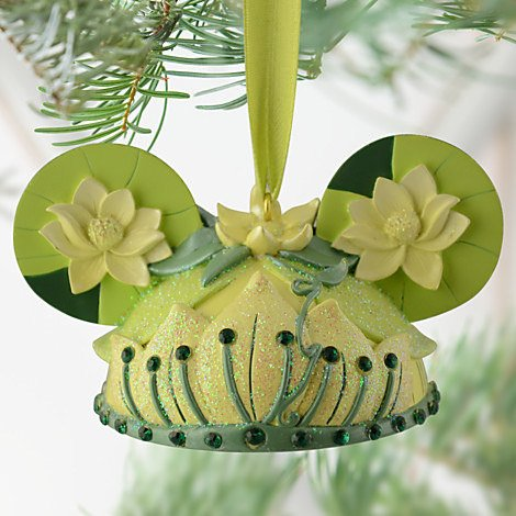 Disney Princess Tiana Mickey Mouse Ears Hat Limited Edition Ornament