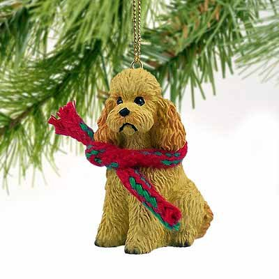Poodle Sportcut Miniature Dog Ornament – Apricot by Conversation Concepts