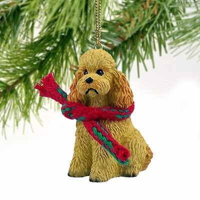 Poodle Sportcut Miniature Dog Ornament – Apricot by Conversation Concepts