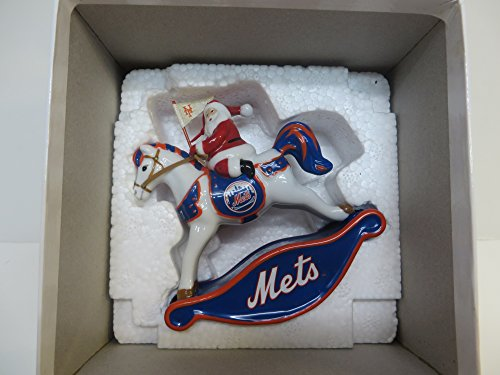 New york mets rockin santa ornament 2007