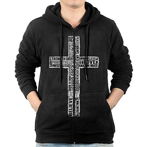 Black Sweatshirts 80's Men Lady Christian Cross Word Juniors Popular Juniors Cute Hoodies