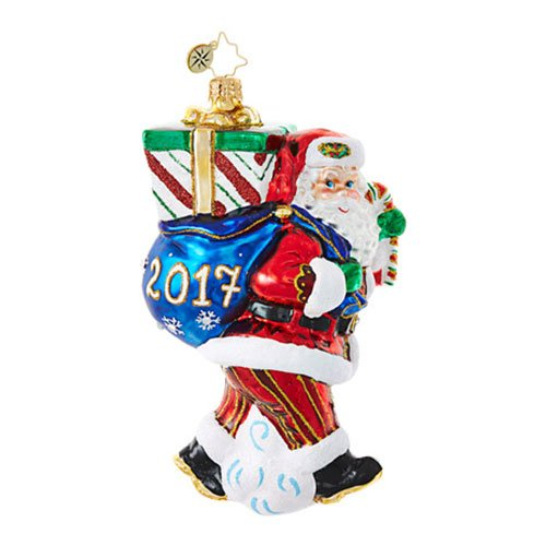 Christopher Radko Perfect Timing Nick 2017 Dated Christmas Ornament