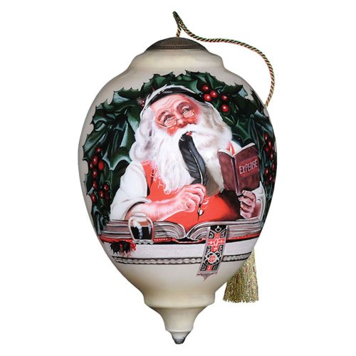 Naughty or Nice Norman Rockwell Design Ornament by Ne' Qwa Art