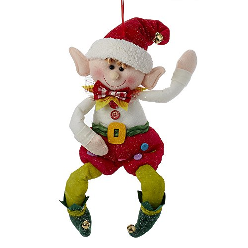 Kurt Adler 19″ Fabric Elf Ornament